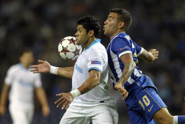 El Zenit visitó al Porto en duelo del grupo G.