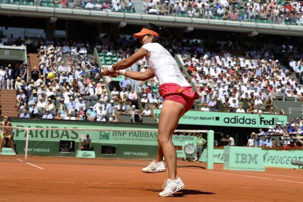 Li acumuló 24 winners, el doble que Sharapova, quien salvó...