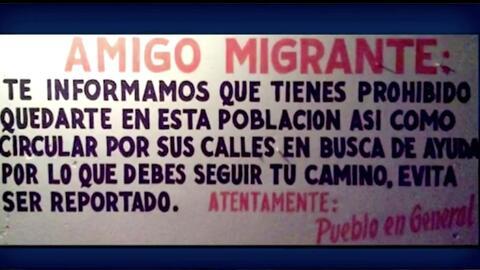 """""""Evita ser deportado"""", recomienda el aviso."""