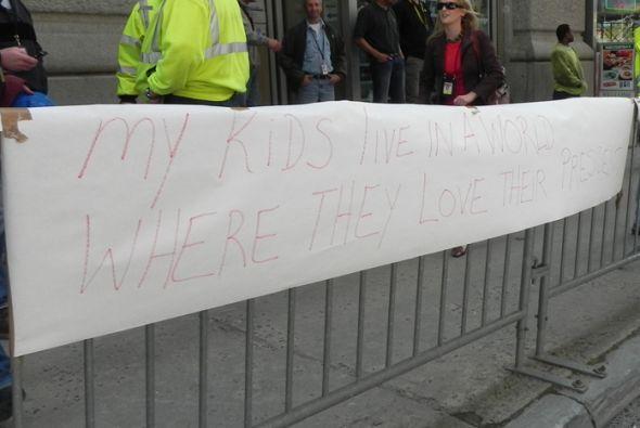 Muchos de los presentes que estaban visitando la ciudad no podían perder...