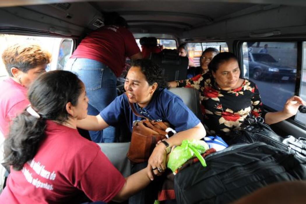Durante su recorrido se alojan en albergues habilitados por grupos human...