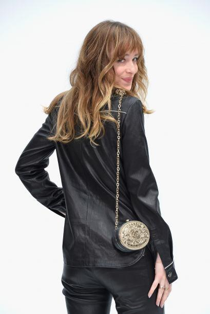 El 'rock' lo llevó a esta Fashion Week la encantadora Dakota John...