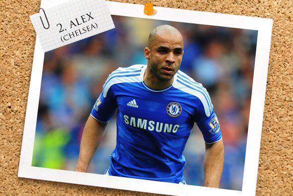 En la defensa aparece el brasileño Alex, del Chelsea.