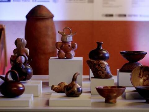 Colombia abrió una exposición con parte de las 691 piezas...