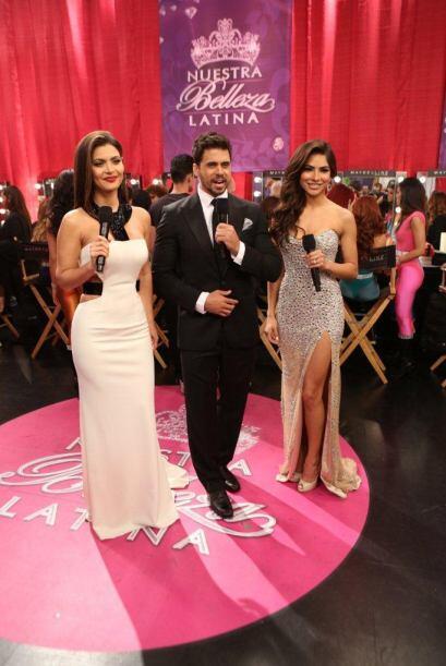 Nuestros coquetos presentadores se colaron también al 'backstage' para h...