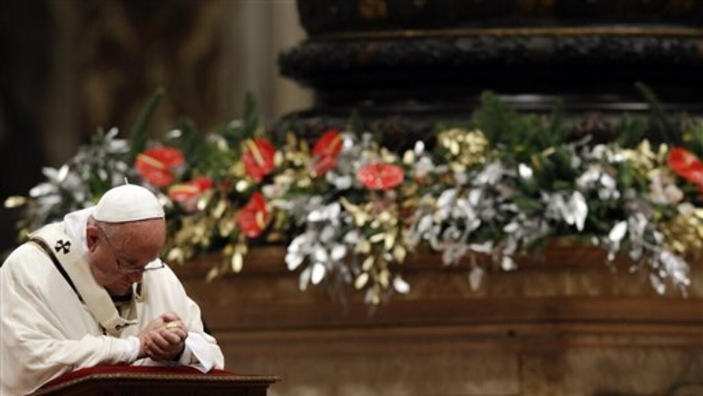 El papa Francisco ofició la misa del gallo.