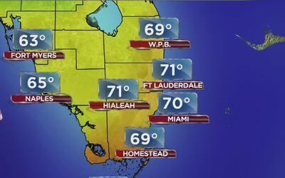 Probabilidad de lluvias y cielo nublado para este viernes en Miami
