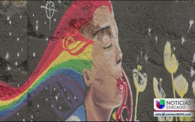 Jóvenes exponen su arte en el barrio de las empacadoras