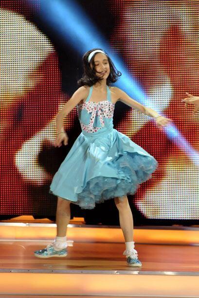 Las coreografías de las pequeñas también eran compl...