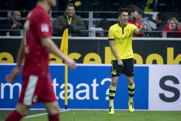 Pasando a la Bundesliga, el turco Nuri Sahin dio un partidazo con el Bor...