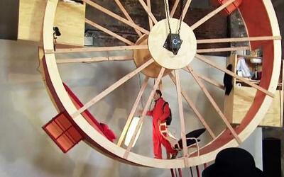Dos artistas de Nueva York viven en una rueda de hámster