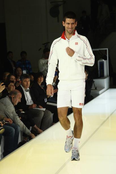 Djokovic desfiló ante los medios de comunicación.