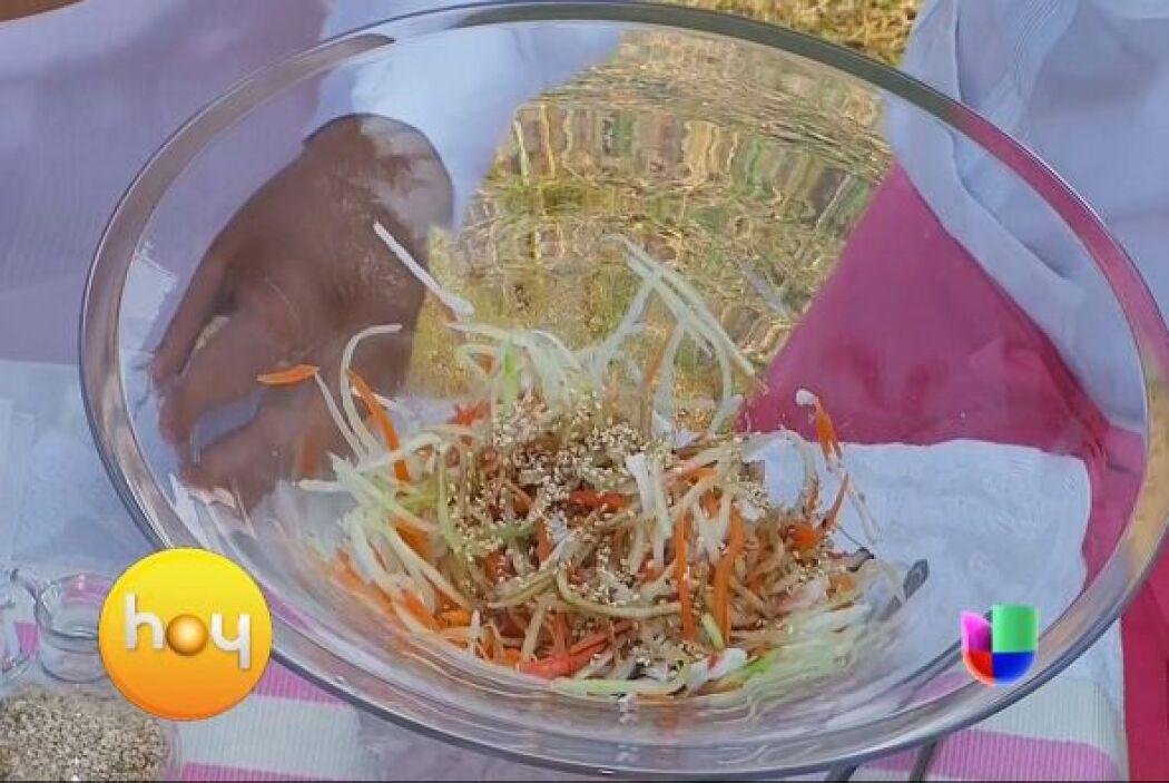 Ensalada de Sunomono con el chef Gibaja   Es una receta japonesa que uti...