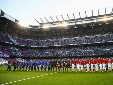 El Santiago Bernabéu lució pletórico para recibir l...