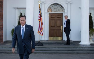 Donald Trump se reunió con Mitt Romney el 19 de noviembre en Nuev...
