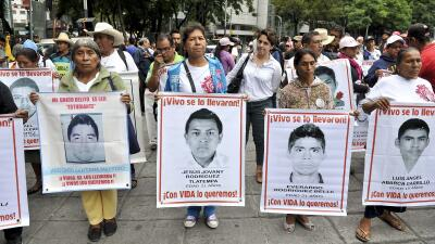 Familiares de desaparecidos en México.