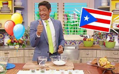 Celebración boricua en la cocina con Johnny y sus exquisitos Bacalaitos...