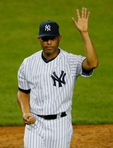 el lanzador panameño Mariano Rivera jugó su último partido en el Yankee...