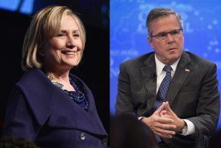 Hillary Clinton y Jeb Bush en la carrera hacia las presidenciales de 2016.