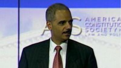 Eric Holder procurador de justicia de los Estados Unidos
