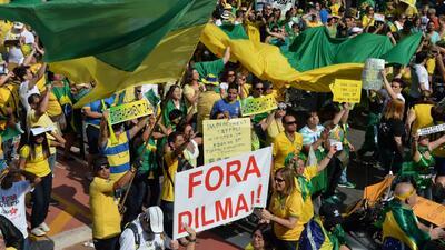 Protestas para destituir a la presidenta Dilma Rousseff
