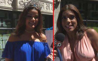 Clarissa Molina y Francisca Lachapel disfrutaron de la parada dominicana...