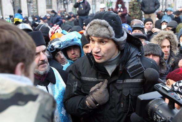 """""""Morire por mi pais si es necesario"""", ha dicho Vitali Klitschko."""