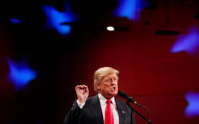 Donald Trump durante un mitin en Des Moines, Iowa, dentro de su tour tra...