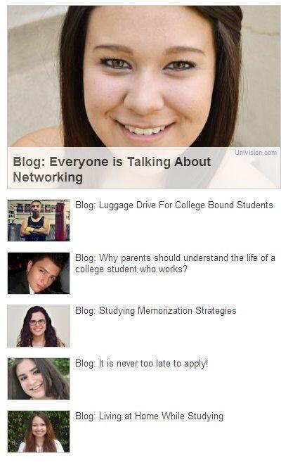 Go 4 It! también contiene una serie de blogs escritos por estudiantes la...