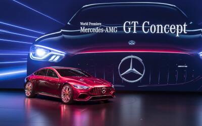 El Mercedes-AMG GT Concept hizo su debut mundial este martes 7 de marzo...