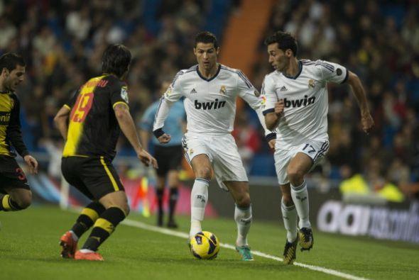 Cristiano Ronaldo no marcó pero fue el que inició el peligro del Madrid.