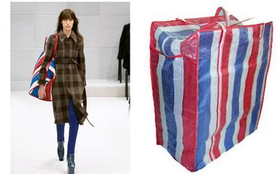 La moda de Balenciaga se inspira en las populares bolsas de mercado.