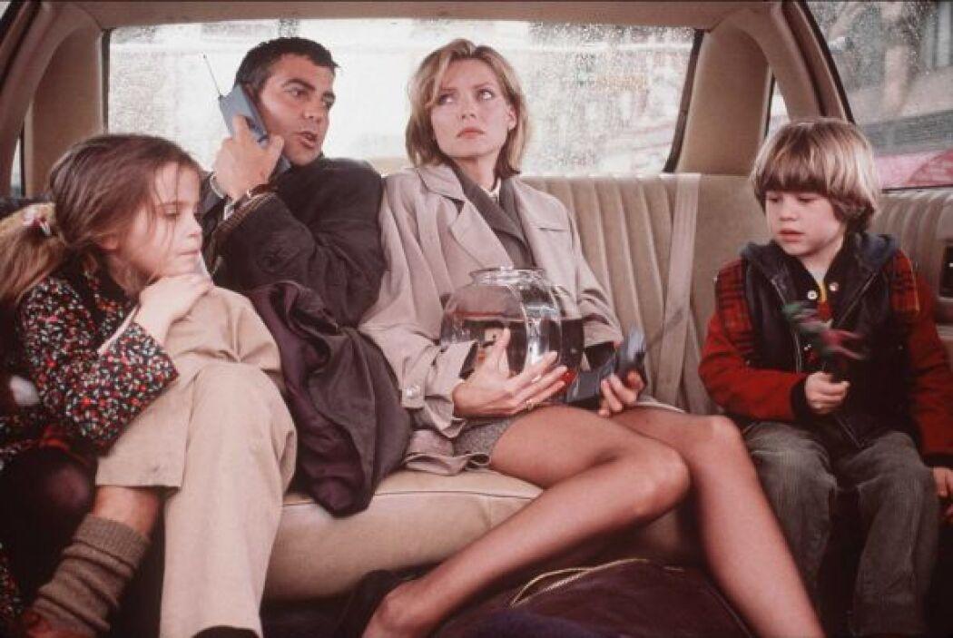"""""""One Fine Day"""", con un guapísimo George Clooney (sin canas) y la bellísi..."""