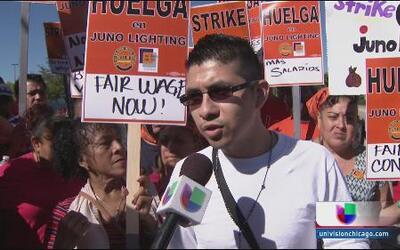 En huelga empleados de Juno Lightning
