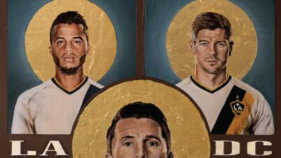 El LA Galaxy reveló el póster conmemorativo del partido inaugural ante D...