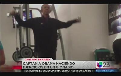 Captado en video: Obama ejercitándose