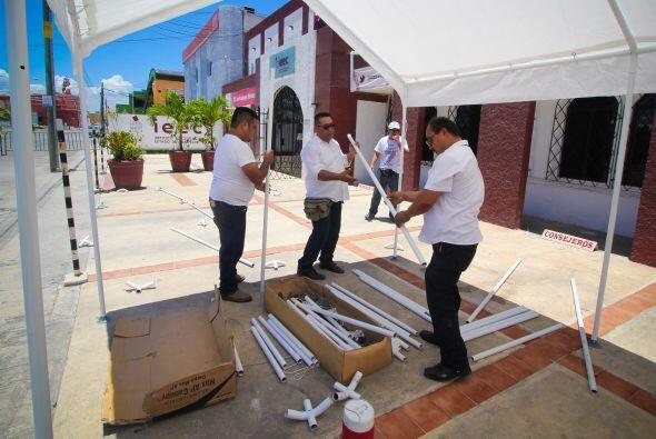 En Campeche desde muy temprano se afinaron los últimos detalles en el In...