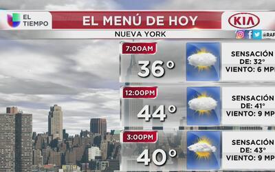 Viernes cálido pero con posibilidad de lluvia en Nueva York
