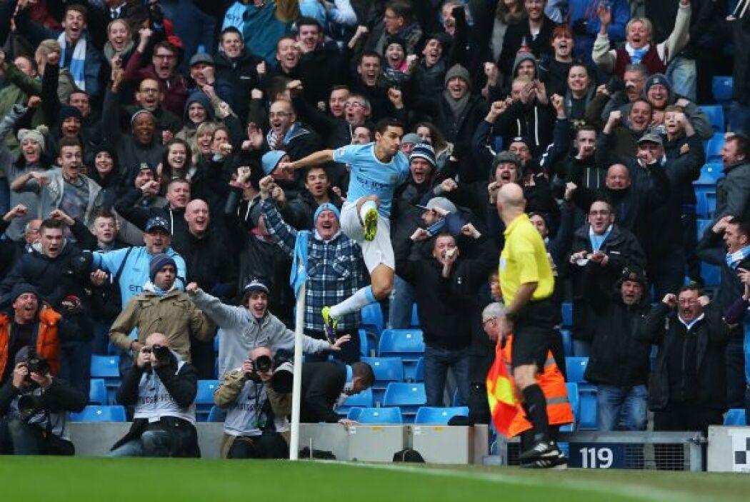Los 'Citizens' ya ganaban desde el primer minuto con un gol de Jesús Navas.