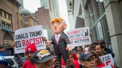 Unas 200 personas protestaron en Chicago