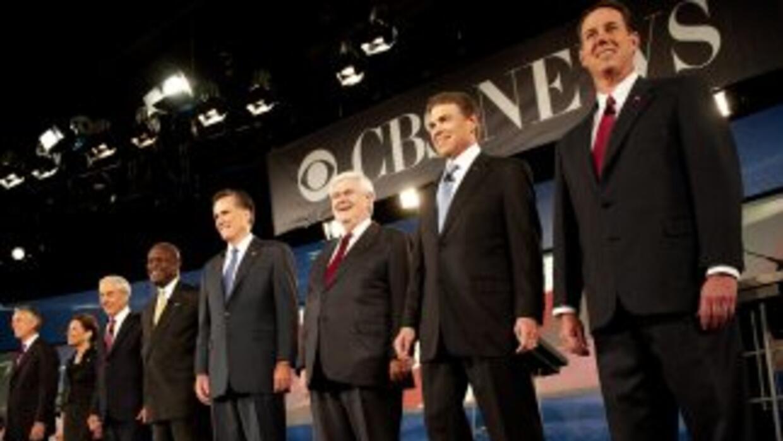 Debate televisado con los candidatos republicanos en 2012.