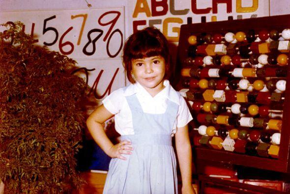 Siempre fue una niña estudiosa y brillante. Aquí estaba en Barranquilla.