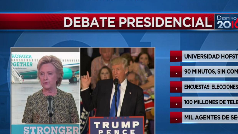 Todo lo que debes saber del primer debate presidencial entre Trump y Cli...