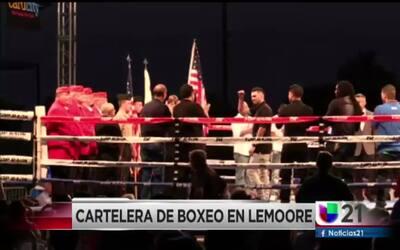 Cartelera de boxeo en Lemoore