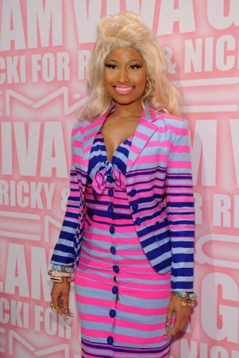 """El """"make-up"""" de Minaj ya se ha convertido en todo un ícono y hasta MAC s..."""
