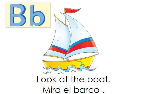 Te traemos otro libro bilingüe para aprender las letras. Incluye la...