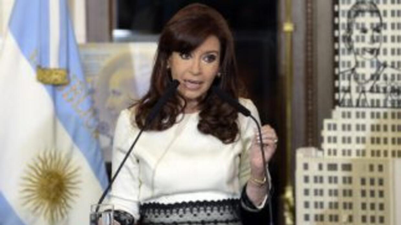 La presidenta argentinaCristina Fernández.