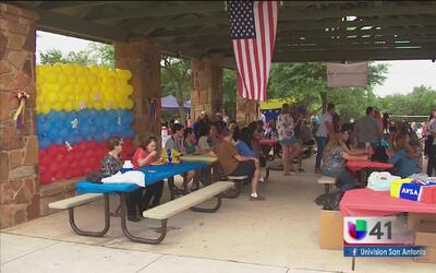 Comunidad venezolana en San Antonio recauda fondos para sus connacionales