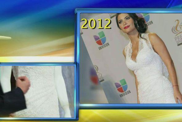 """""""Este vestido lo usó Chiquinquirá Delgado en el 2012 y aunque causó cont..."""