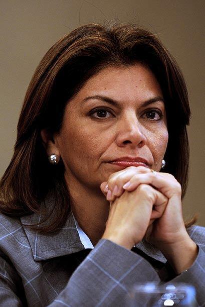 Y su colega costarricense, Laura Chinchilla, se ubica en el puesto 83.